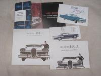 Edsel, 6 colour illustrated brochures 1958-60, inc' large fold outs