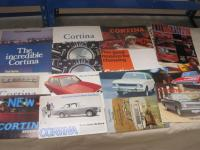 Ford Cortina, a comprehensive range of catalogues 1967-68 t/w press cuttings etc, rare brochures