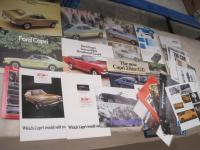 Ford Capri a comprehensive range of catalogues 1970s onwards t/w press cuttings etc