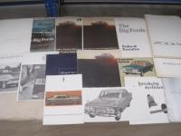 Ford Zephyr and Zodiac, a good range of brochures 1967 onwards t/w press cuttings etc