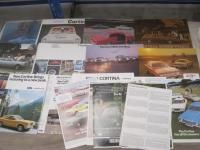 Ford Cortina, a range of brochures and flyers 1966 onwards