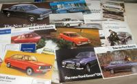 Ford Escort, Mexico, RS2000 etc, brochures, flyers, price lists etc, early 1970s