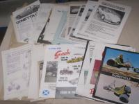 Ginetta and various 'fun' vehicle brochures, flyers, cuttings etc