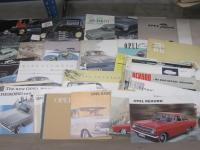 Opel, large qty of car brochures 1951-64, various languages, the majority English