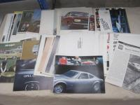 Opel, large qty of car brochures 1965-69, various languages, the majority English