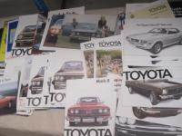 Toyota, large qty of car brochures 1974-77, US, GB, Japan etc