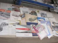 Citroen, large qty of car brochures 1951-59, 6cylinder, light 15, 2CV, DS19 etc and many contemporary road tests etc