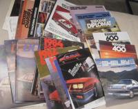 Dodge, a qty of car brochures 1980s, inc' Shelby Charger