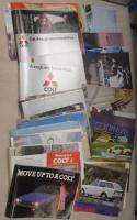 Mitsubishi brochures 1970s under the Colt name, a good qty