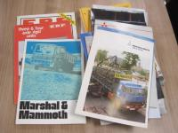 Qty of commercial and 4x4 brochures 1970s onwards