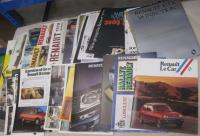Renault, a large qty of car brochures etc covering 1976-80 period