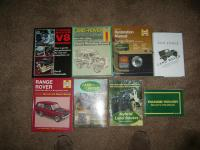 Qty Land Rover and Range Rover books; to include workshop manuals, repair manuals and tuning manuals and books