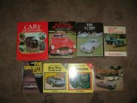 Qty general motoring books to include; Post War Sports Cars by Eric Dymock, The Jaguar XKS by Paul Skiliter etc
