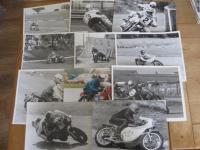 Full face helmet era racing action photos, all formats, many types of machines