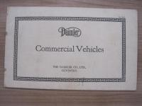 Daimler Commercial Vehicles, c1920 24pp illustrated brochure