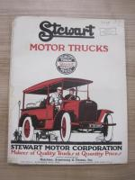 Stewart Motor Trucks c1914 fold out illustrated brochure (taped folds)
