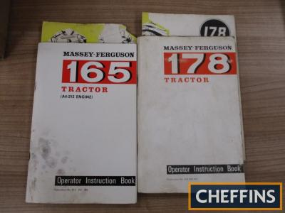 Massey Ferguson 165 and 178 operator instruction books complete with fold out maintenance charts