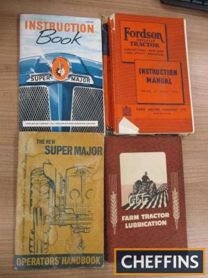 Fordson Major and Super Major instruction books (3) together with Castrol Farm Tractor Lubrication booklet
