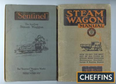 Steam wagon manual, Temple Press 1918, contains numerous steam wagon and accessories advertisements