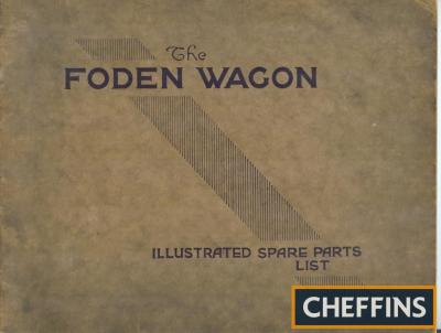 The Foden Wagon illustrated spare parts list for the 5 and 6 tonne wagon