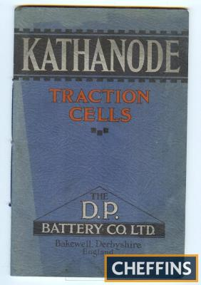 Kathanode Traction Cells catalogue, c1920, contains many photographs of electric powered municipal vehicles