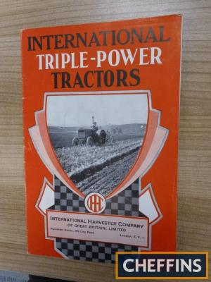 International Triple-Power Tractors 31pp illustrated range brochure for 1931
