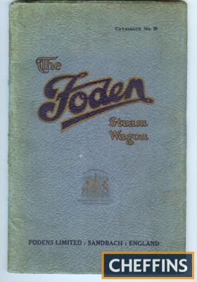 The Foden Steam Wagon catalogue number 29
