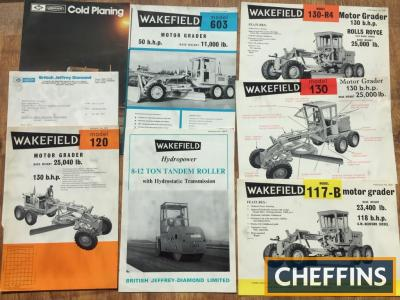 Wakefield Roadroller and Motor Grader brochures
