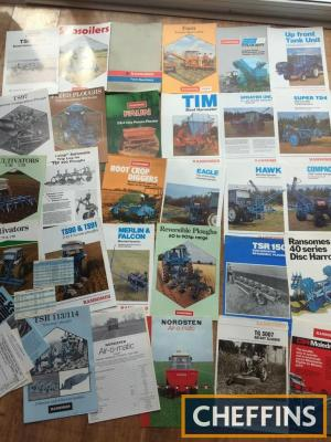 Ransomes plough, sprayer, cultivator brochures and prices list (30) in a Ransomes folder
