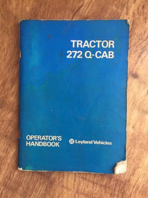 Leyland 272 tractor Q-Cab operators manual