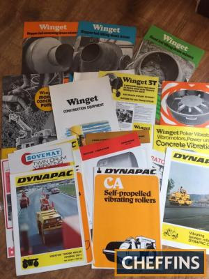 Winget, Dynapac and Sovemat mixers and roadroller brochures (20)