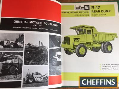 Terex General Motors Scotland - dumper track, crawler tractor, scrapers and grader brochures