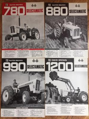 David Brown Selectamatic tractor brochures