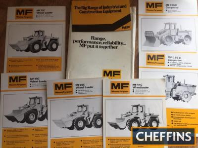 Massey Ferguson wheeler loader brochures and folder