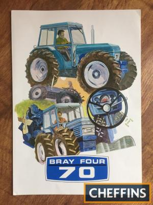 Bray Four 70 tractor brochure (according to Leyland, Nuffield, BMC Tractor Club only 4 actual Bray Four 70 tractors still exist)