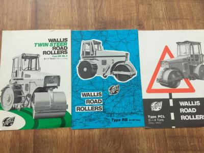Wallis road roller brochures