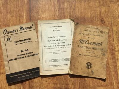 McCormick binder and baler manuals