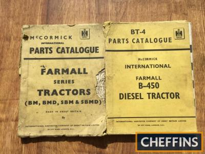McCormick International B450 and BM, BMD, SBM and SBMD tractor parts manuals