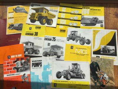 Aveling Barford brochures and folder