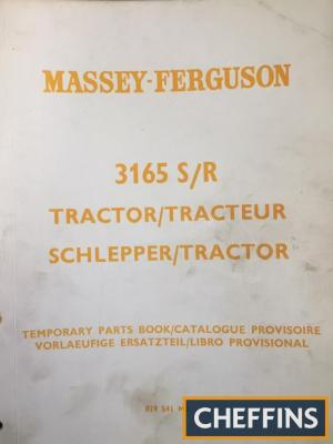 Massey Ferguson 3165 S & R industrial tractor manual