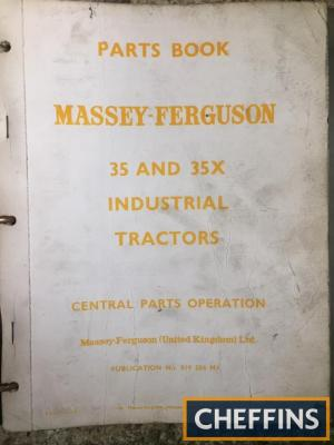 Massey Ferguson 35 & 35X industrial tractor manual