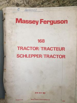 Massey Ferguson 168 tractor manual