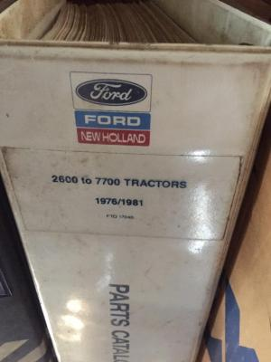 Ford tractor 2600 to 7700 parts manual