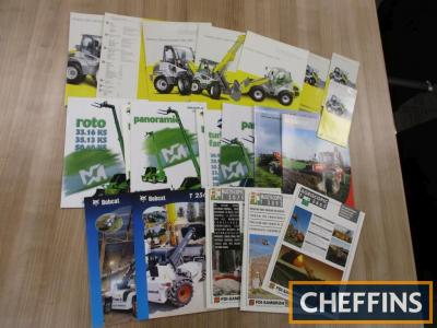 A qty of wheeled and telescopic loader brochures, leaflets and price lists etc, to include Kramer (21)