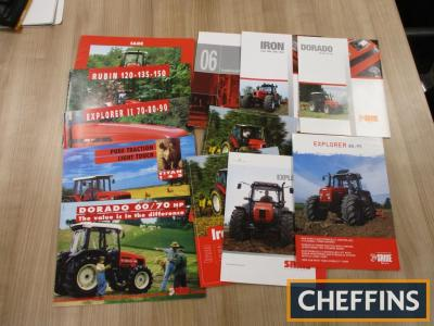 Goldoni, Antonio Carraro, a qty of agricultural tractor brochures and leaflets etc (12)