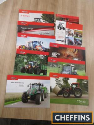 Valtra, a qty of agricultural tractor brochures and leaflets, to include the T series etc. (11)