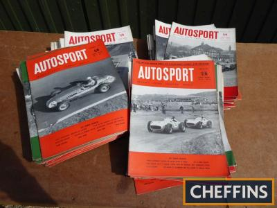 120 copies of Autosport magazine 1954-1957