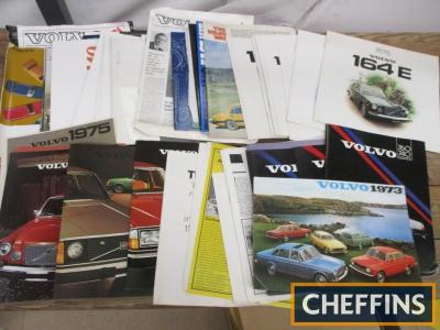 Volvo, a large qty of car brochures 1970s