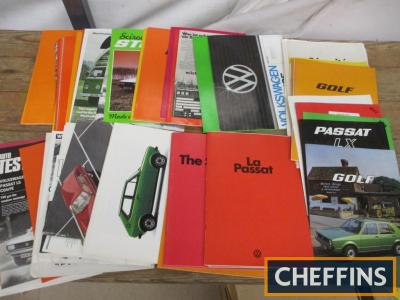VW, a large qty of car brochures 1970s and early 1980s