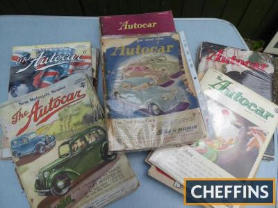 Qty Autocar magazines, 1938, 40s and 50s etc.